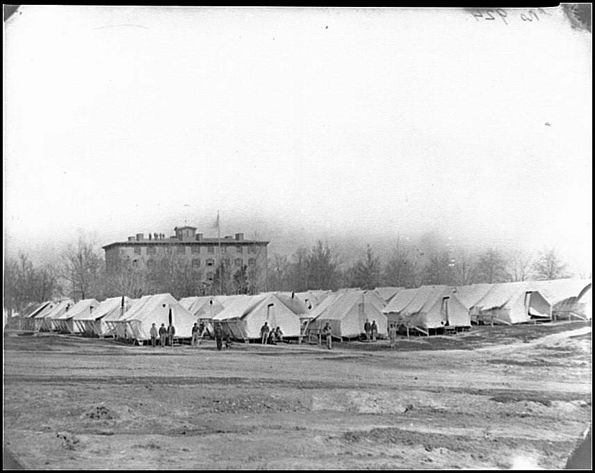Washington, D.C. Hospital tents in rear of Douglas Hospital