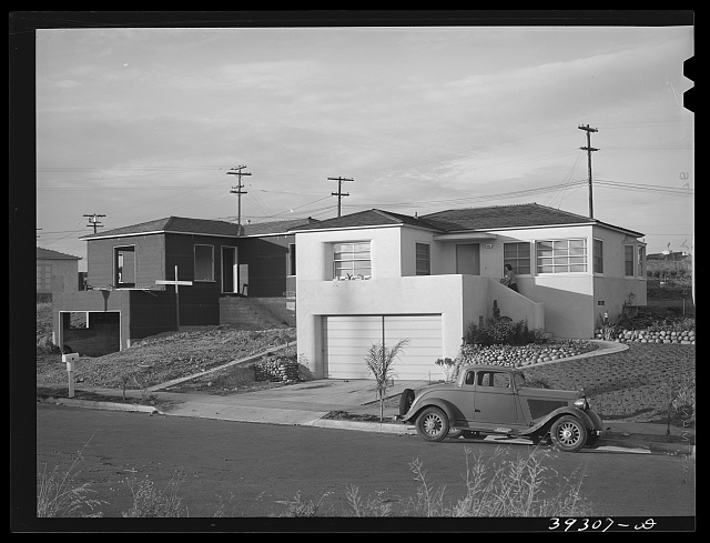 Federal Housing Administration housing. San Diego, California.  May 1941