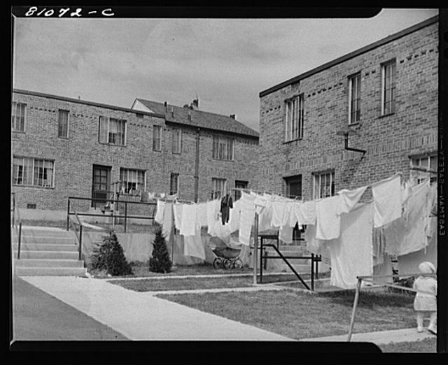 FHA (Federal Housing Administration) low income housing project. Holyoke, Massachusetts.  September 1941
