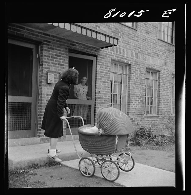 There is plenty of fresh air and sunlight for the workers children in the FHA (Federal Housing Administration) low income housing project. Holyoke, Massachusetts.  September 1941