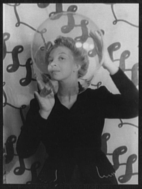 Portrait of Leonor Fini by photographer Carl Van Vechten, 1936 Dec. 14.  (Library of Congress)