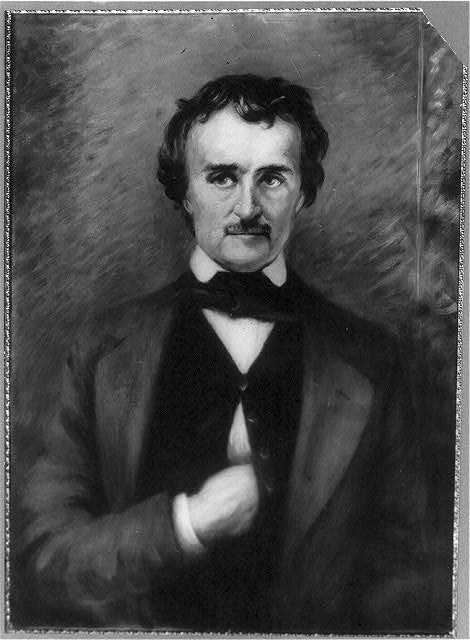 Photo of painting of Edgar Allan Poe by Mrs. Norman Burwell, c. 1903.  (Library of Congress)