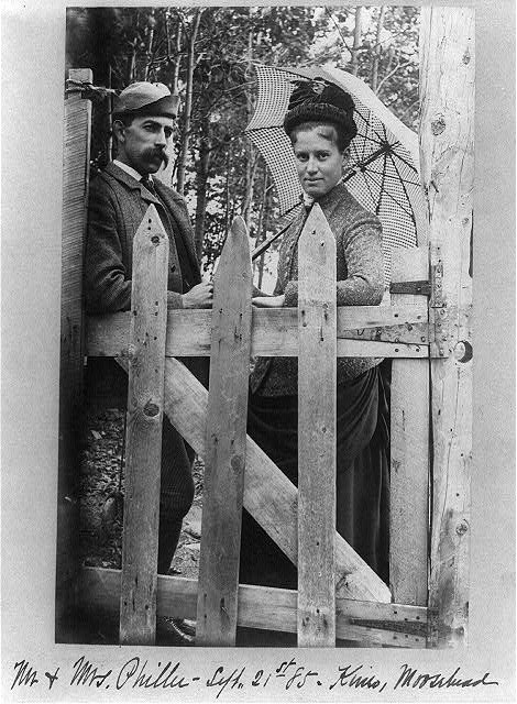 Mr. & Mrs. Philler, Kineo, Moosehead Lake, Maine.  Joseph John Kirkbridge, photographer (Library of Congress)