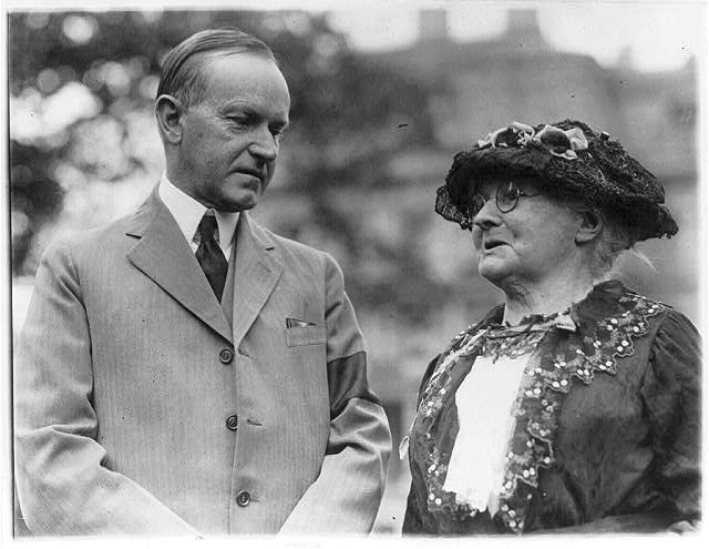 President Calvin Coolidge and Mother Jones, 1924 Sept. 26. (Library of Congress)