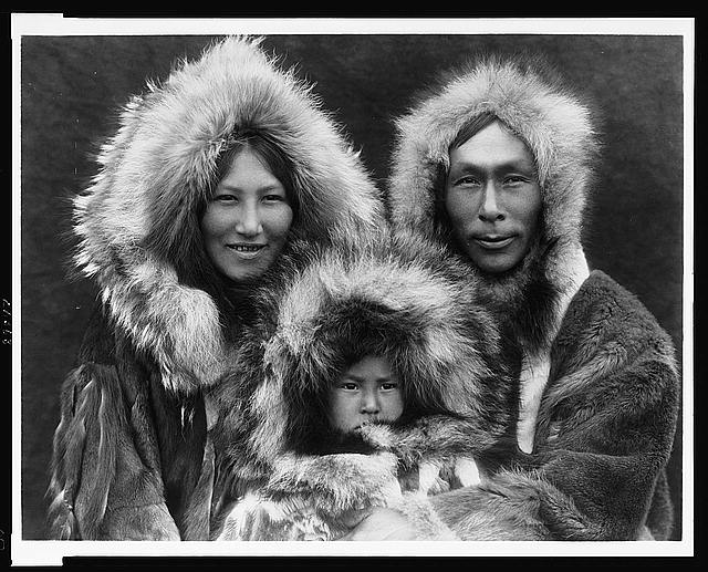 A family group--Noatak.  c. 1929.  Edward S. Curtis, photographer.  (Library of Congress)