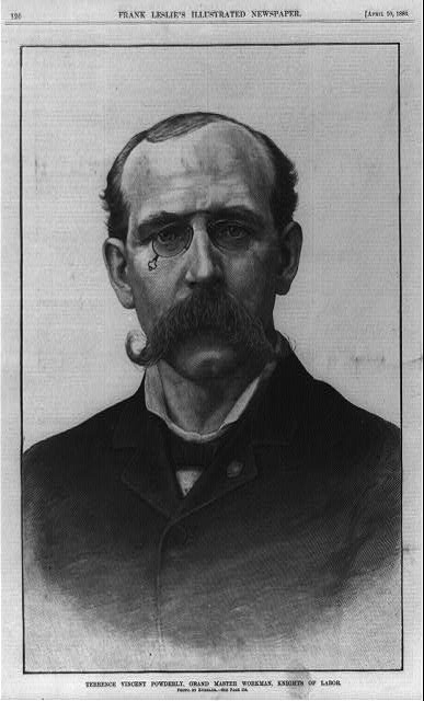 Terrence Vincent Powderly (wood engraving, 1886)