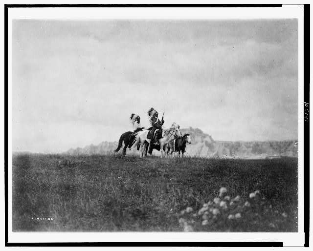 The plains of the Dakota--Sioux c1905. Edward S. Curtis Collection.