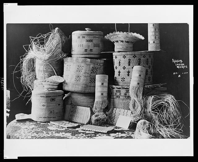 Alaska Indian baskets, between c. 1890 and 1925