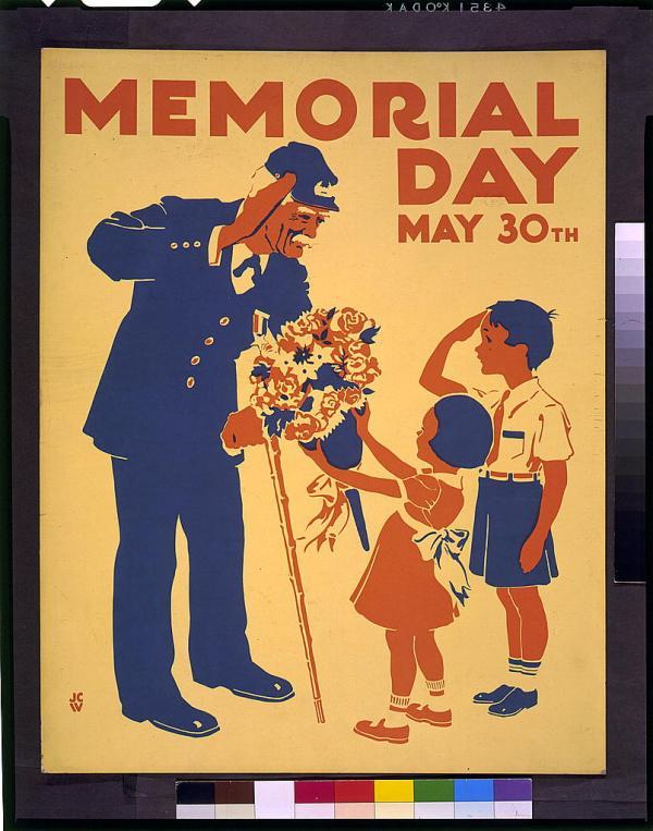 Memorial Day Poster Public Domain Clip Art