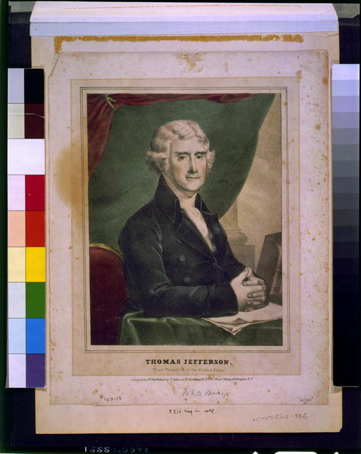 Thomas Jefferson--Third president of the United States / lithographed and published by H. Robinson, N.Y. & Washington, D.C.