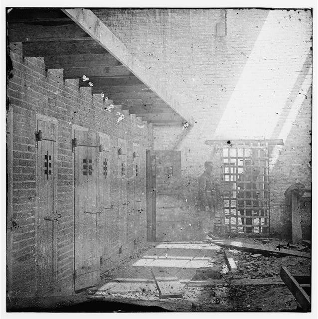 Alexandria, Virginia. Slave pen. Interior view (between 1861 and 1869)