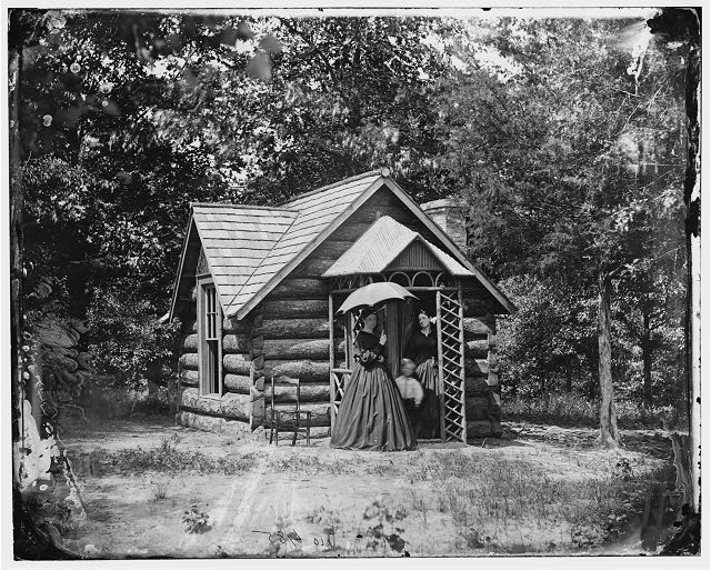 Cottage of Col. Nathaniel Michler, U.S. Engineers, at Bryant house, Petersburg, Virginia.  c. 1865 (Library of Congress)