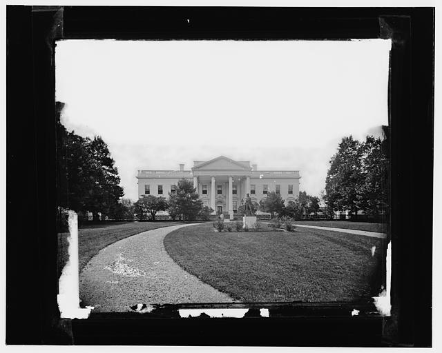 White House, earliest (sic) known view (made in 1860s)