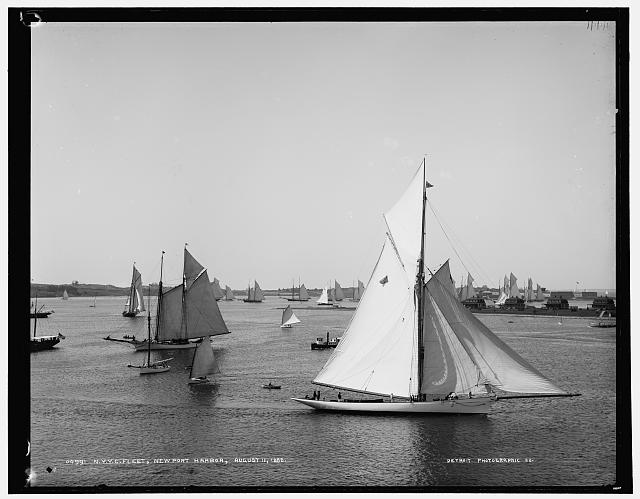 New York Yacht Club fleet, Newport harbor (August 11, 1888)
