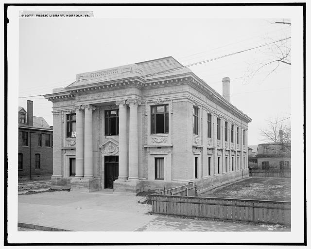 Public Library, Norfolk, Virginia (between 1900 and 1906)