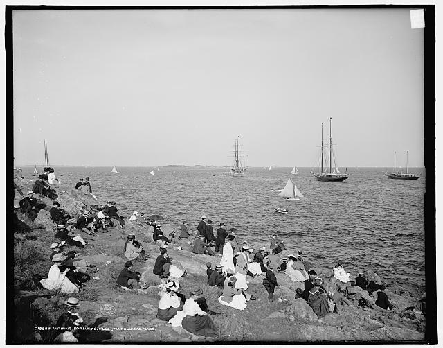 Waiting for New York Yacht Club fleet, Marblehead, Mass. (1906)