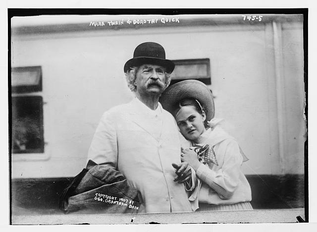 Mark Twain and Dorothy Quick c. 1907