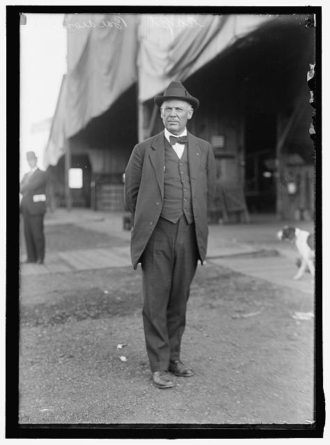 CAPT. THOMAS S. BALDWIN, N.A., WHO BUILT DIRIGIBLE BALLOON #1 EXCEPT THE ENGINE, WHICH WAS MADE BY CURTISS.  c.1914 (Library of Congress)