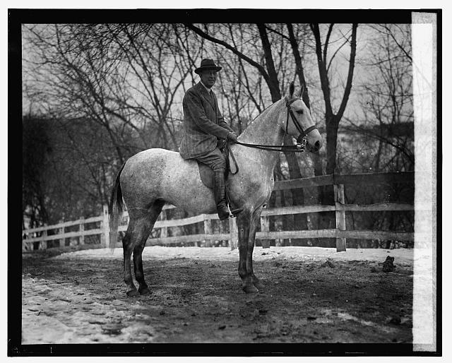 Sherman Flint of N.Y. on Bubbles, January 15, 1926.