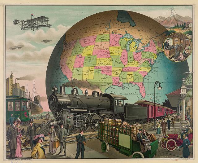 Twentieth century transportation / E.S. Yates, des. Chi. (circa 1910)