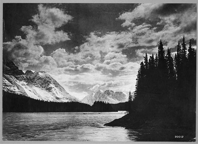 River and mountain scene  Nome, Alaska, c.1920 (Library of Congress)