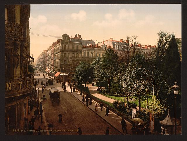 Alsace-Lorraine Street, Toulouse, France (some time between 1890 and 1900)