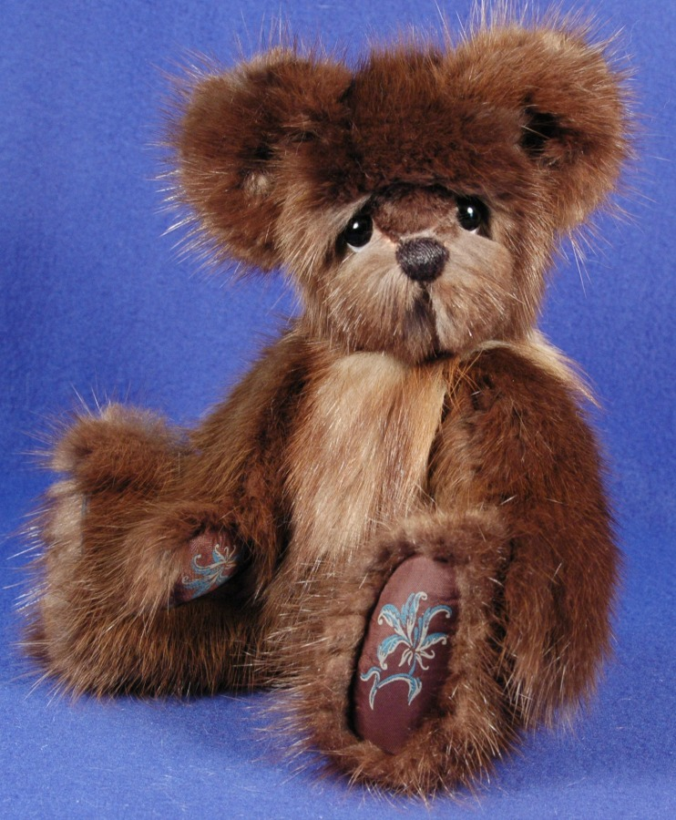 Dark Mink Fur Memory Bear