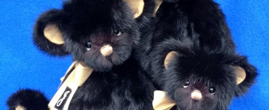 Memory Bears & Pillow from Black Mink Fur Coat