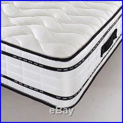 Memory Foam Mattress New Quilted Sprung 3ft Single 4ft6 Double 5ft King