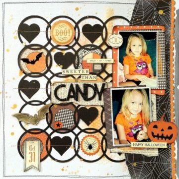 Awesome and unique Halloween Layout Ideas Scrapbooking