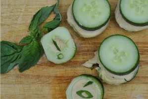 Cucumber Hummus Scoops