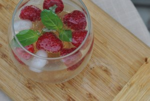 Raspberry Basil Ginger Mocktail