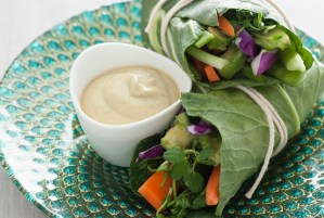 Sunshine Wraps with Zesty Almond Sauce