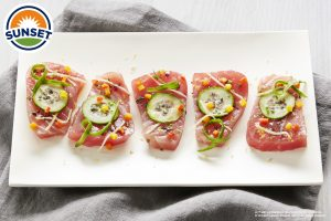 Mediterranean Inspired Tuna Crudo