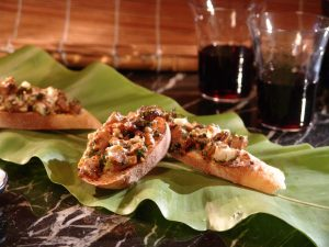 King Oyster Bruschetta