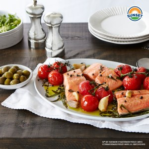 Confit Campari® and Salmon
