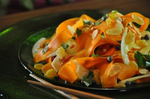 Carrot & Fennel Salad w/ White Wine Dressing