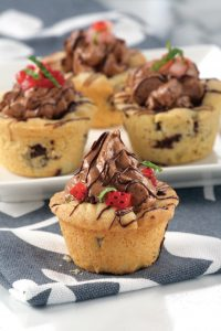 Dark Chocolate Mousse Cookie Cups