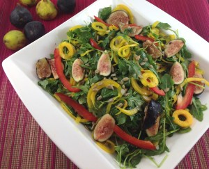 Golden Beet, Fig and Arugula Salad