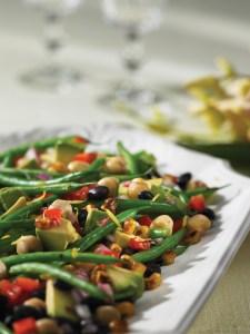 Three Bean, Avocado and Charred Corn Salad