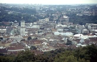 Lviv från slottsberget 1