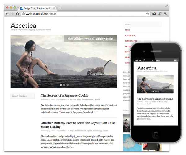 responsive theme wordpress ascetica