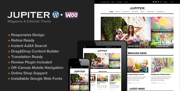 jupiter magazine wordpress theme
