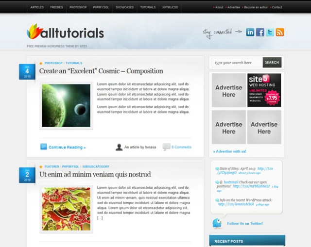 magazine wordpress themes All-Tuts