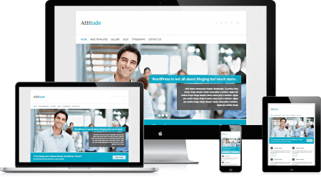 attitude wordpress free business theme