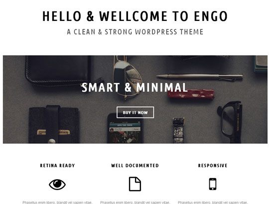 engo portfolio wordpress theme