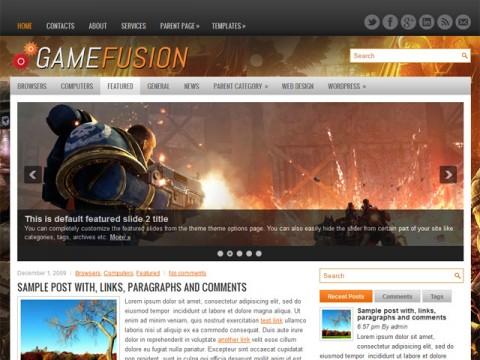 gamefusion wordpress theme