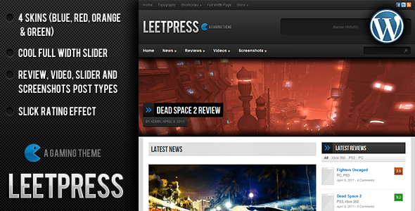 leetpress wordpress theme