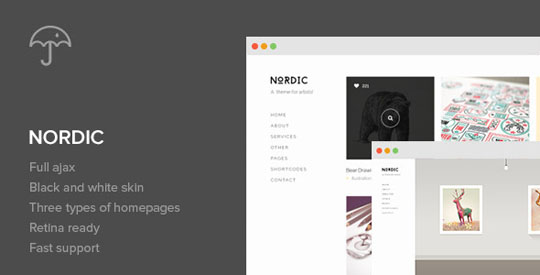 nordic minimal wordpress theme