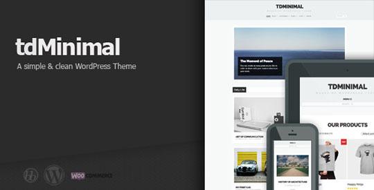 td minimal wordpress theme